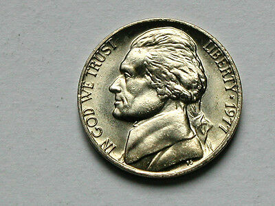 USA 1977 5 CENTS Jefferson Nickel Coin UNC BU