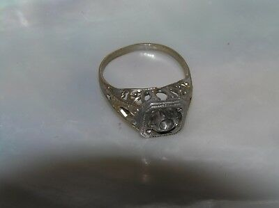 Vintage Nonmagnetic Lightweight Metal Art Deco Paste Ring Size 4.75 – hallmarks