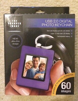 The Sharper Image USB 2.0 Digital Photo Keychain Purple - New in Box