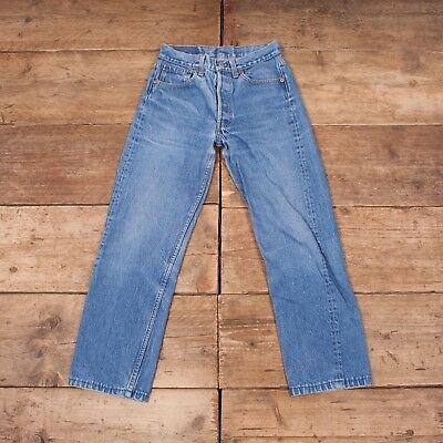 """Womens Levis Red Tab 501 1990s Blue Denim Mom Jeans USA Made 29"""" x 27"""" R7490"""