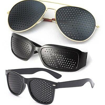 Black Eyesight Training Improvement Exercise Pinhole Glasses Sunglasses