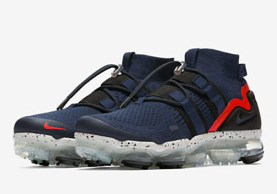 Nike Air Vapormax Utility Flyknit College Navy/Habanero Red Vapor Max Mens Sizes