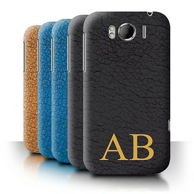 Personalised Custom Leather Effect Phone Case for HTC Sensation XL/G21/Cover
