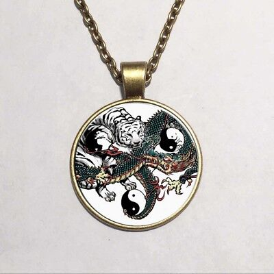 Silver Plated Exquisite Dragon and Tiger Tai Chi Pattern Gift Traditional Unisex