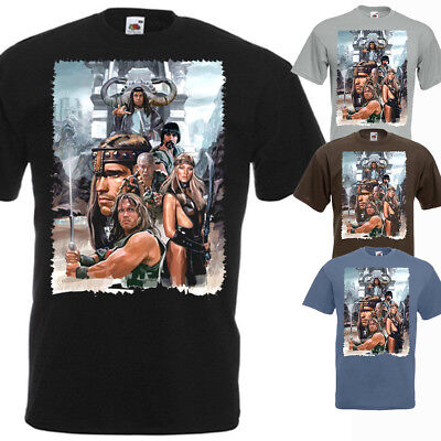 CONAN THE BARBARIAN T-shirt V1 ZINK BLACK WHITE BROWN Movie Poster all sizes