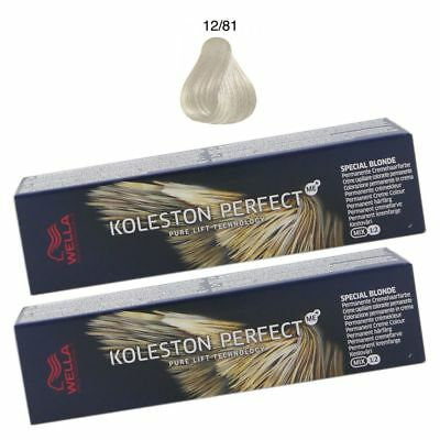 2 x Wella Koleston Perfect ME Special Blonde 60 ml Set - 12 81 Spezialblond perl
