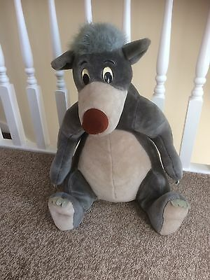 Large Jungle Book Baloo Plush Toy From The Disney Shop
