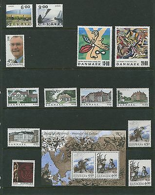 Denmark 2004 Year Set Commemorative with Sheets Scott 1267-91 1274a 1275a 1278a