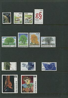 Denmark 1999 Year Set Commemorative with Sheets Scott 1143-68, 1164a 1166a 1151a