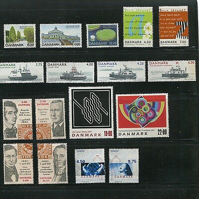 Denmark 2001 Year Set Commemorative with Sheets Scott 1193-1217 1201a 1209a B86
