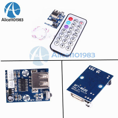 Mini WAV MP3 Decode Board Decoder Module 2-Channel Output 6-12V For Audio Player