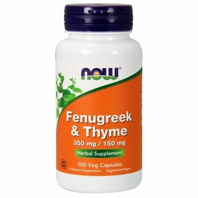 Fenugreek & Thyme 100 Caps 500 mg by Now Foods