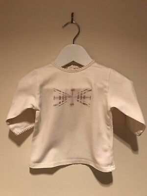 BURBERRY BABY BEIGE LONG SLEEVE T-SHIRT 6M GUC *** please read ***