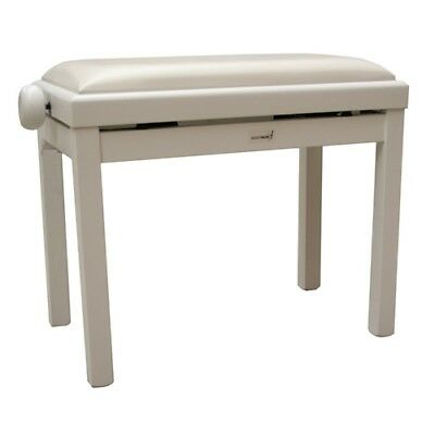 Rocket Piano Bench with Vinyl Top - White