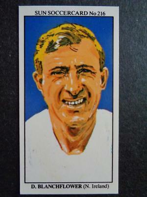 The Sun Soccercards 1978-79 - Danny Blanchflower - Northern Ireland #216
