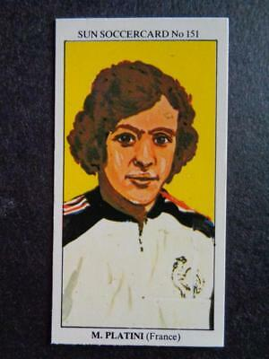 The Sun Soccercards 1978-79 - Michel Platini - France #151