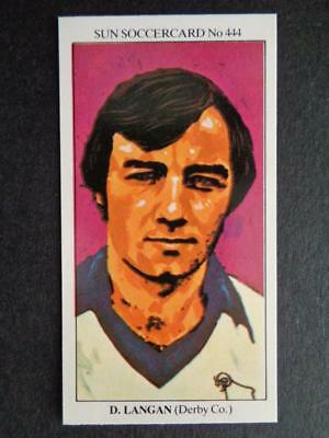 The Sun Soccercards 1978-79 - David Langan - Derby County #444