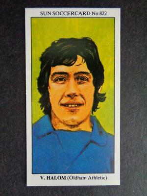 TOPPS-FOOTBALL -#144- OLDHAM VIC HALOM RED BACK 1977