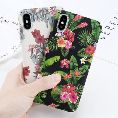 Flower Pattern Case Ultra Thin Shockproof Cover For Apple iPhone X 8 6s 7 Plus
