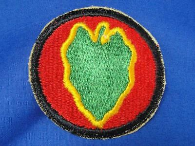 """Original WW2 Vintage U.S. Army Military Patch """"24TH DIVISION"""" Infantry A75"""