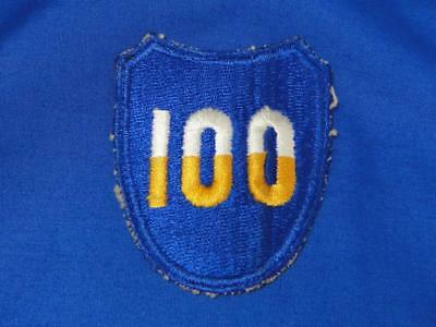 """Original WW2 Vintage U.S. Army Military Patch """"100TH DIVISION"""" Infantry A134"""