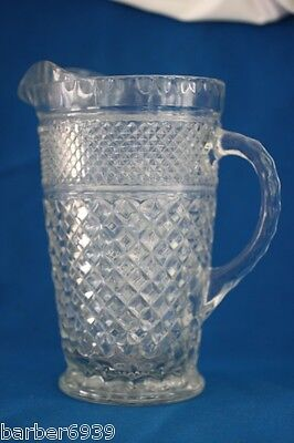 Vintage Anchor Hocking Clear Wexford Pitcher ~Excl
