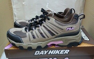 Fila Day Hiker Women's Suede Walking Boots Trainers Shoes - Brown/Tan/Lilac