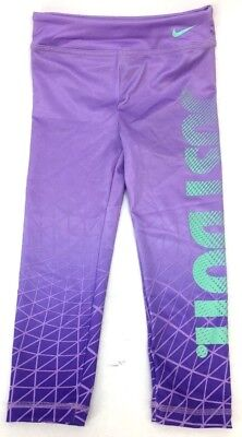 NEW!! Nike Little Girl's 'Just Do It' Dry Sport Essentials Purple Legging Sz 4T