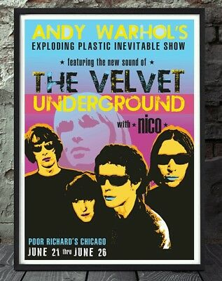 Andy warhol velvet underground lou reed music print poster. Specially created.