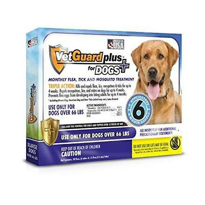 VetGuard Plus Flea & Tick Treatment for X-Large Dogs, Over 66 lbs, 6 Month