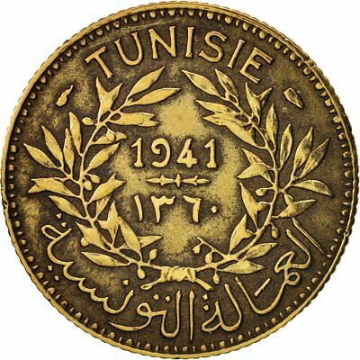 [#18310] Tunisia, Anonymous, Franc, 1941, Paris, EF(40-45), Aluminum-Bronze