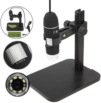 GVESS 1000X 8 LED 2MP USB Digital Microscope Endoscope Magnifier Camera+Lift
