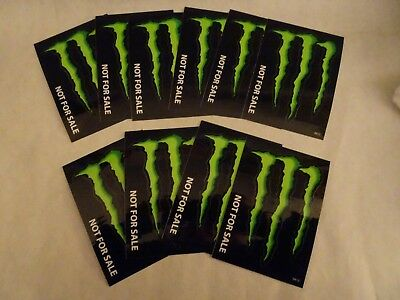 """Lot Of 10 """"wet High Gloss"""" Monster Energy Claw Stickers,3"""" X 4"""""""