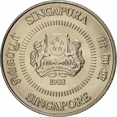 [#18229] Singapore, 10 Cents, 1988, British Royal Mint, MS(64), Copper-nickel