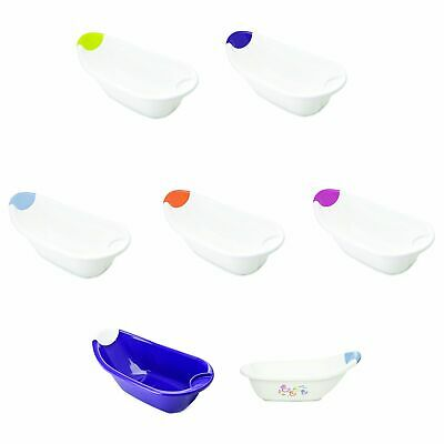 The Neat Nursery Co. Bath With Drain Plug And Soap Dish - White / Plum