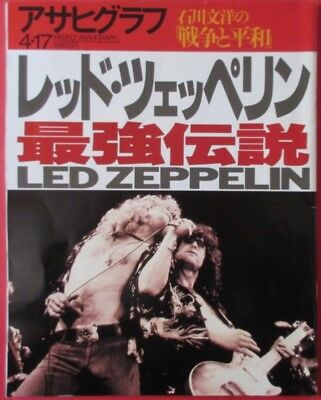 Led Zeppelin Asahi Graph 1998 4.17 Japan Magazine Robert Plant Jimmy Page