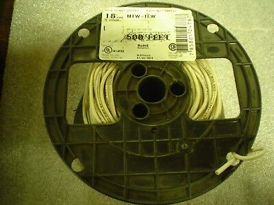2lbs 8oz of 18MT21 18 AWG 16 Strand Copper Machine Tool Wire MTW TEW White