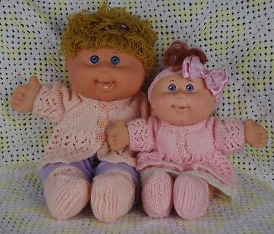 Babywear Doll Clothes KNITTING  PATTERNS for 11&14 inch Cabbage Patch Babies