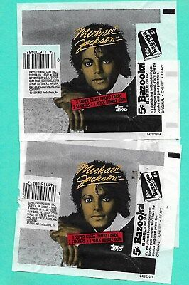 17 - 1984 Topps  Michael Jackson Wax Pack Wrappers
