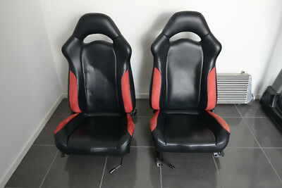 Gc8 WRX Rs Liberty Front Leather Seats with rails (pair)