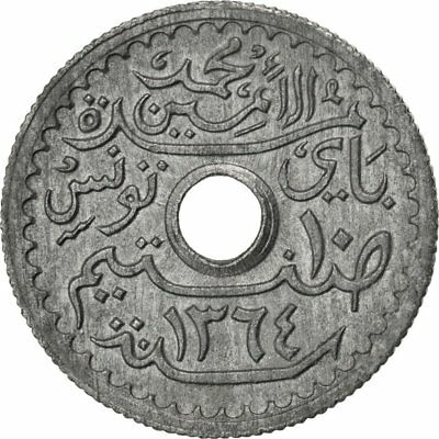 [#27003] TUNISIA, 10 Centimes, 1945, Paris, KM #271, AU(55-58), Zinc, 1.53