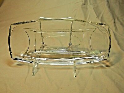 Elegant Vintage Glass Pickle Dish Mid Century Clear Glass