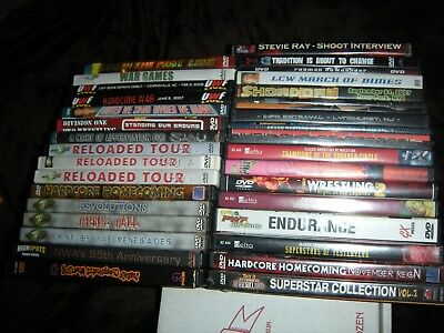 Lot 34 Indy Indie Wrestling DVDS Rare AJ Styles Legends ex-WWE WWF WCW MLW ECW