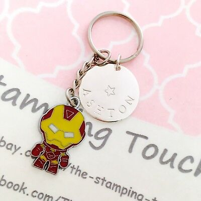 Personalised Hand Stamped Keyring - SUPERHERO