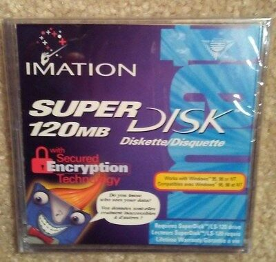 Imation SuperDisk LS-120 - 120MB - With Secured Encryption