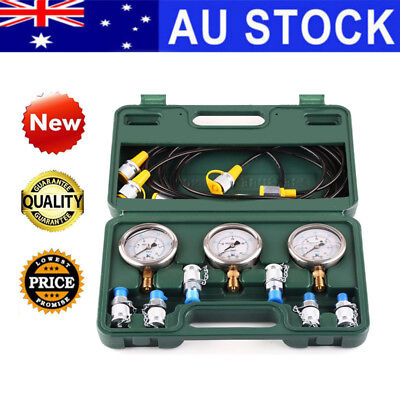 Hydraulic Pressure Gauge Test Tool Kit Coupling Tester For Excavator Caterpillar