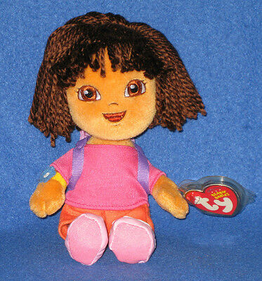 TY DORA the EXPLORER  BEANIE BABY - MINT with MINT TAG
