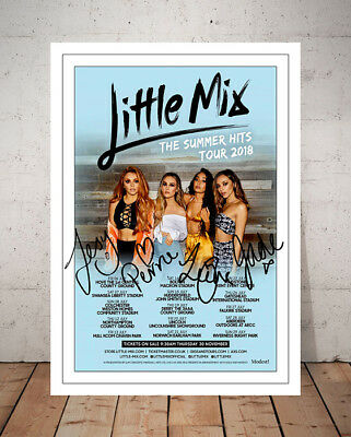Little Mix The Summer Hits Tour 2018 Concert Flyer Autographed Signed Print
