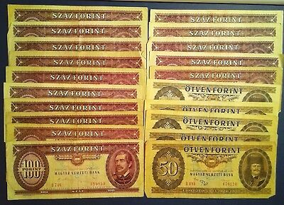 HUNGARY: Set of 26 Forrint Banknotes  - Fine to Very Fine Condition