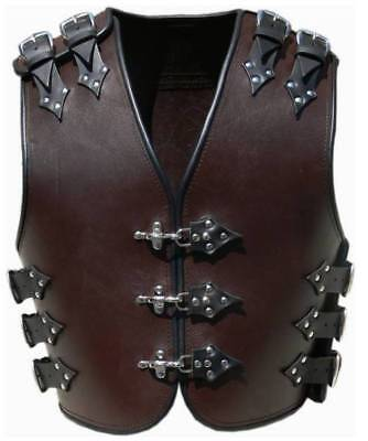 Bikers Motorcycle Leather Vest Armor Latest Viking Design